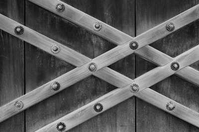 二条城 Nijo Castle, Kyoto Door Detail Wabi Sabi Wood Craft A. Henry Rose UTSOA University of Texas Austin School of Architecture Japan Japanese 35mm Film Photography 日本